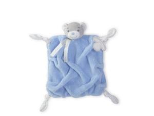 Doudou Ours Bleu Plume - 20 cm
