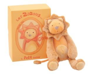 Peluche Lion Grroou Zazous - 23 cm