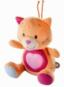 Peluche Veilleuse Musicale Chat Mia