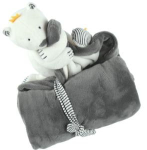 Doudou Couverture Ours Polaire Sam Timeless