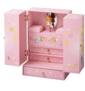 Armoire Musicale Princesse Rose - Figurine Princesse