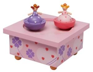 Boîte à Musique Bois Soeurs Princesses