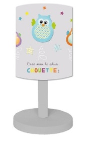 Lampe Chouette Grise