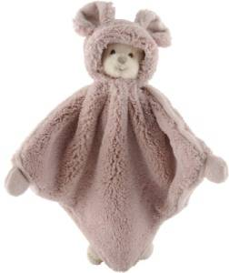 Doudou Ours Ziggy Mimi Baby Rug Rose