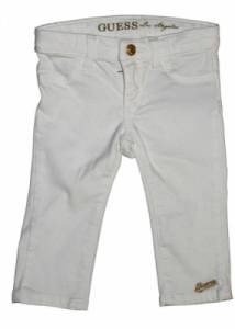Pantalon Stretch Blanc 3-6 Mois