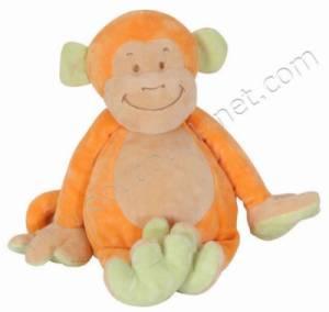 Peluche Singe Orange - 25 cm