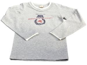 Tee-Shirt Manches Longues Basic Kid Gris Garçon - 4 ans