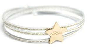 Bracelet Amazone Etoile Plaqué Or