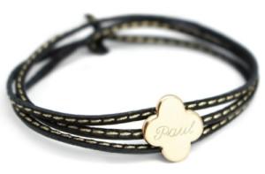 Bracelet Amazone Trèfle Plaqué Or
