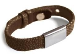Bracelet Hip Hop Chocolat Argent