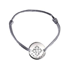 Bracelet Mini Jeton Croix Occitane  Argent