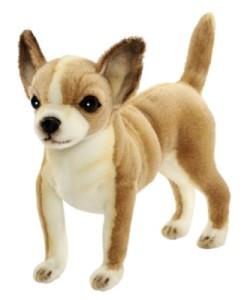 Peluche Chien Chihuahua Brun - 25 cm