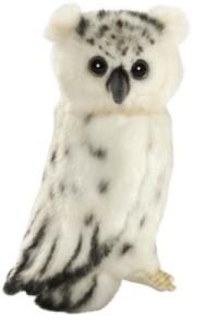 Peluche Chouette Articulée Blanche - 18 cm