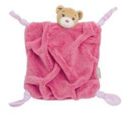 Doudou Ours Plume Framboise