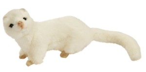 Peluche Furet Blanc - 23 cm