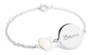Bracelet Lovely Médaille Coeur Argent