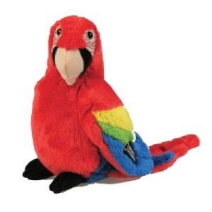 Peluche Oiseau Ara Rouge - 14 cm