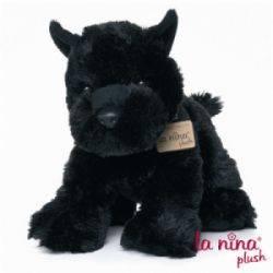 Peluche Chien Fox Terrier Noir