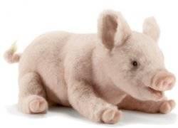 Peluche Cochon couché 33 cm