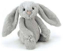 Peluche Lapin Bashfuls Gris - 31 cm