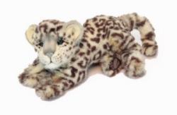Peluche Léopard des Neiges Couché - 26 cm