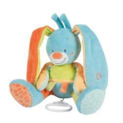 Peluche Musicale Lapin Funny Farmers - 28 cm