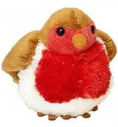 Peluche Oiseau Rouge Gorge Chanteur - 15 cm