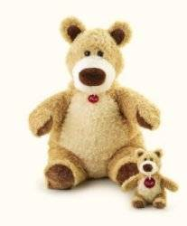 Peluche Ours Beige 27 cm