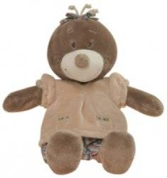 Peluche Taupe Emma - 35 cm