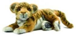 Peluche Tigre Brun Bébé Couché - 26 cm