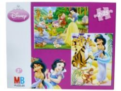 Puzzle 2x25 Pièces Princesses Disney