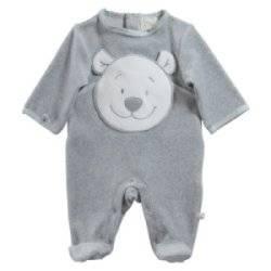 Pyjama Ours Nouky Gris 12 Mois