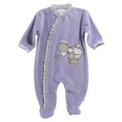 Pyjama Taupe Emma Lilas 12 Mois