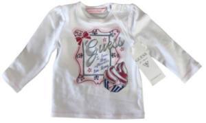 Tee-Shirt Blanc Fille 6/9 mois
