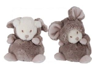 Peluche Ours Ziggy Souris Taupe - 15 cm