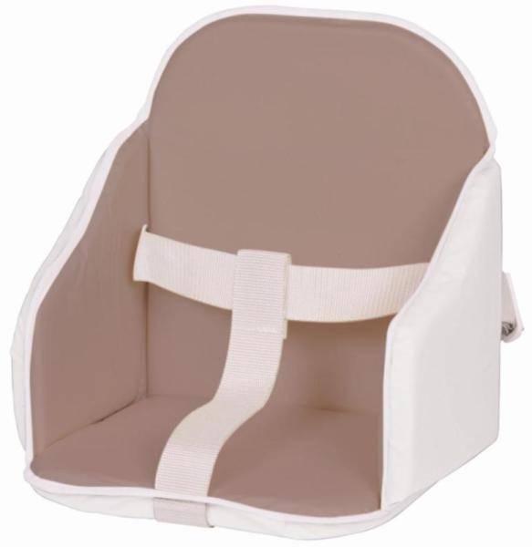 Candide Coussin de Chaise à Sangles Taupe Blanc