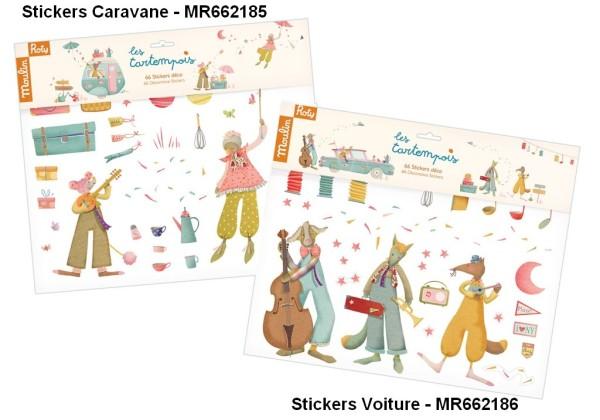 Moulin Roty Stickers Déco Voiture Les Tartempois