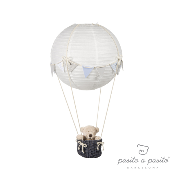 Pasito A Pasito Lampe Montgolfière Fanions Bleu