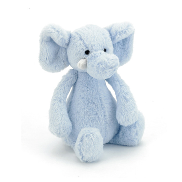 Jellycat Peluche Hochet Bashful Elephant Elly - 18 cm