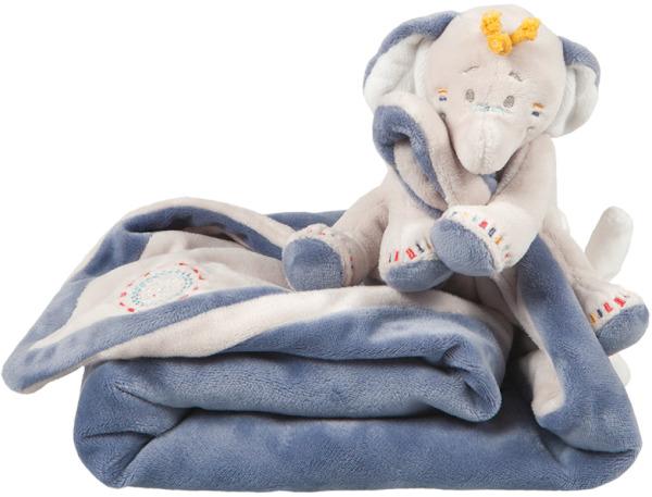 Noukies Doudou Couverture Eléphant Bao