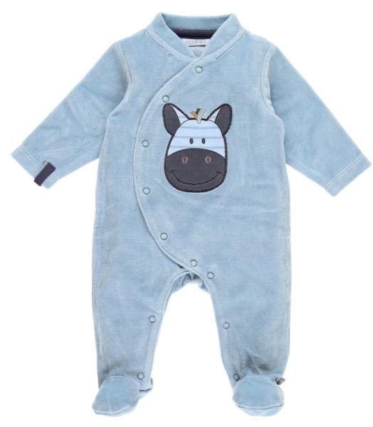 Noukies Pyjama Zèbre Zebrito Bleu Arona - 1 Mois
