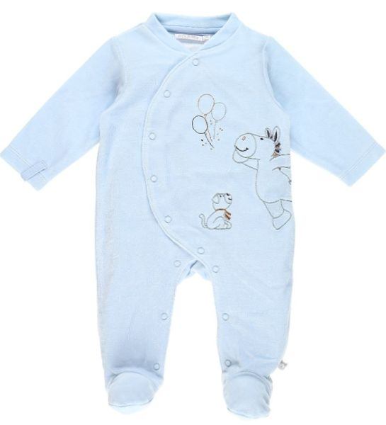 Noukies Pyjama Achille et Zebrito Bleu Cocon - 6 Mois