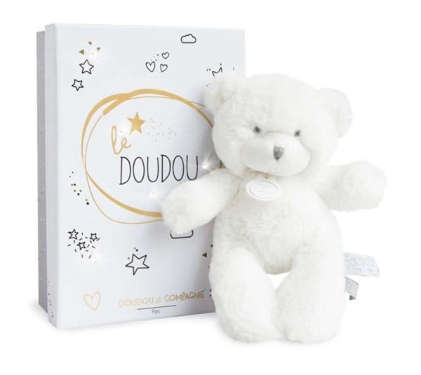 Doudou et Compagnie Peluche Ours Le Doudou Gris - 20 cm
