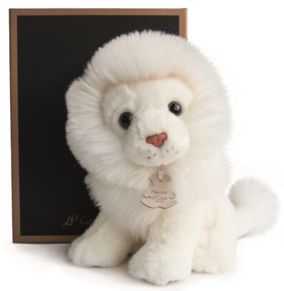 Histoire d Ours Peluche Lion Blanc - 20 cm