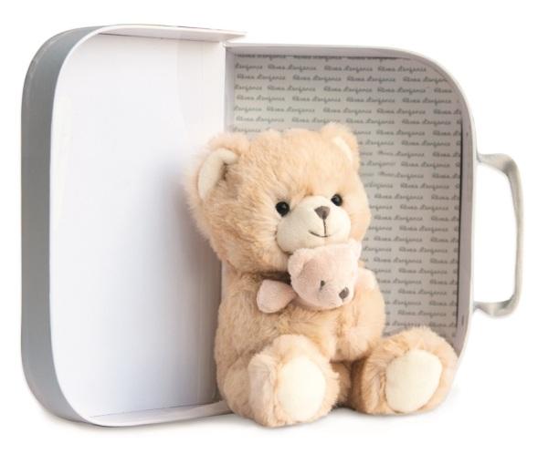 Histoire d Ours Peluche Ours et Bébé Miel ours17 cm