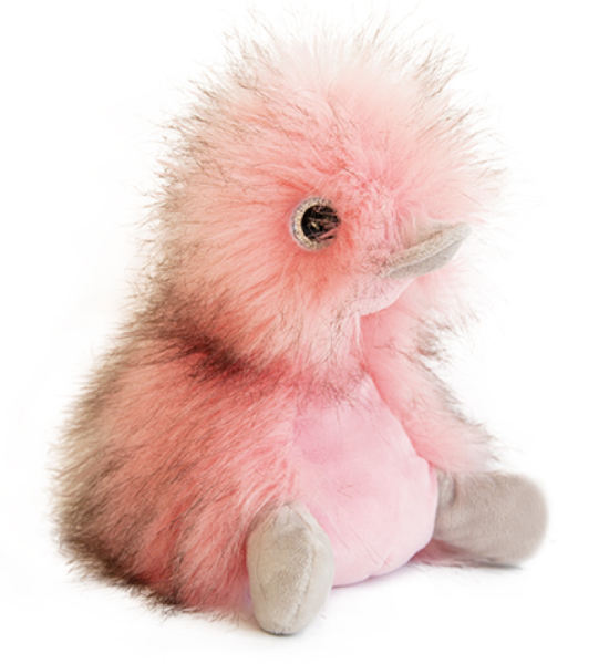 Histoire d Ours Peluche Canard Coin Coin Rose Blush - 22 cm