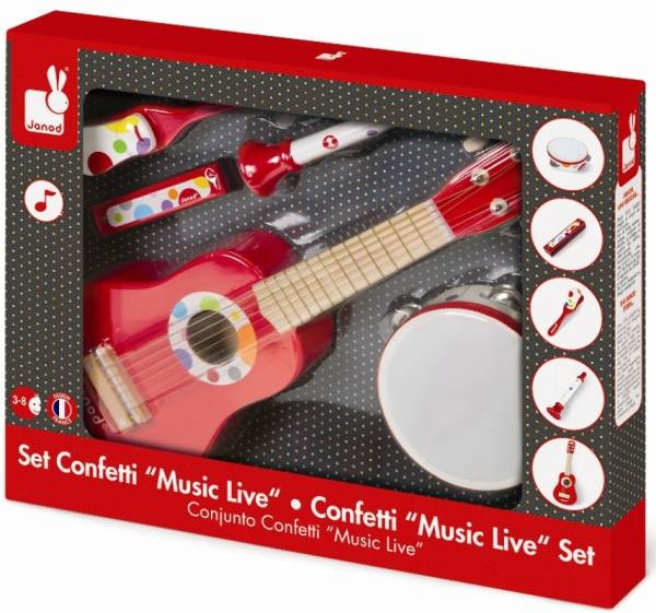 Janod Set Musical Confetti Music Live