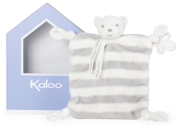 Kaloo Doudou Ours Gris et Crème Bébé Pastel - 20 cm