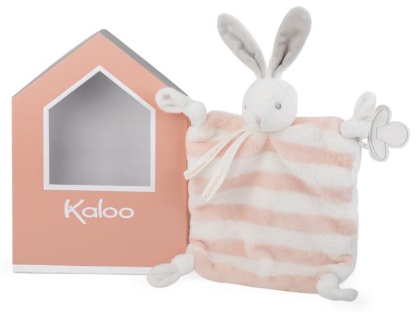 Kaloo Doudou Lapin Pêche et Crème Bébé Pastel - 20 cm