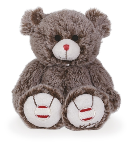 Kaloo Peluche Petit Ours Cacao - Rouge